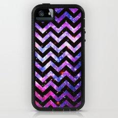 Girly Chevron Pattern Cute Pink Teal Nebula Galaxy iPhone (5, 5s) Adventure Case