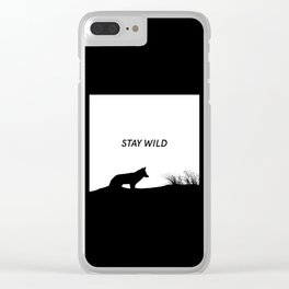 Stay Wild Clear iPhone Case