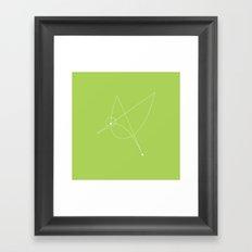 Contours: Hummingbird (Line) Framed Art Print