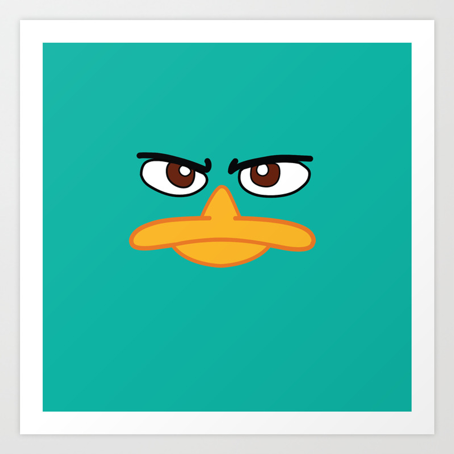 Perry The Platypus Art Print By Maggiecellucci Society6