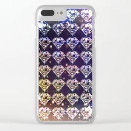 Diamonds, diamonds... Clear iPhone Case