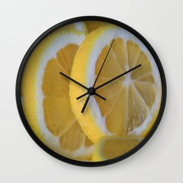 Love Lemons Wall Clock