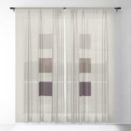 four elements || nougat Sheer Curtain