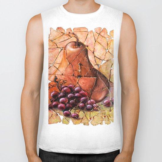 Pear & Grapes Fresco Biker Tank