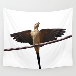 Swallow Song Vector Wall Tapestry