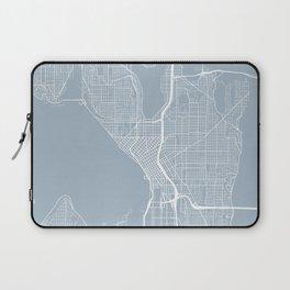 Seattle Map, USA - Slate Laptop Sleeve
