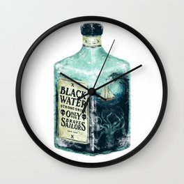 BLACK WATER Wall Clock