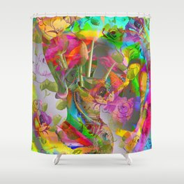 The Smell of Our Digital Flower Park Shower Curtain