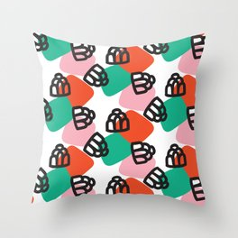 Jumping Jellies Throw Pillow