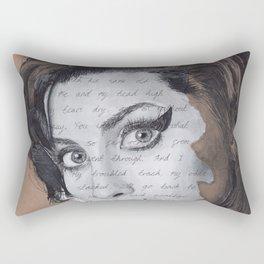 Back to Black Rectangular Pillow