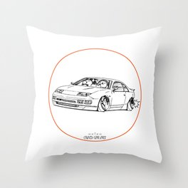 Crazy Car Art 0216 Throw Pillow