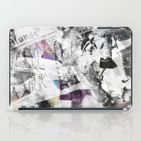 newspaper iPad Cases featuring Newspaper collage by Arken25