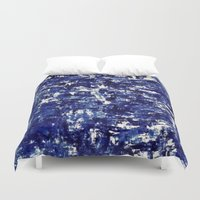 iceland Duvet Covers featuring Iceland - Greenland by Alison McLean