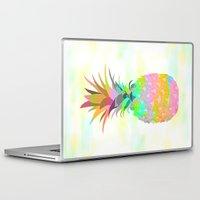 pineapple Laptop & iPad Skins featuring Pineapple by Ornaart