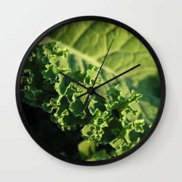 Beauty of Kale Wall Clock