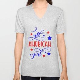 All American girl Unisex V-Neck