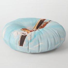 Avion blue horizon Floor Pillow