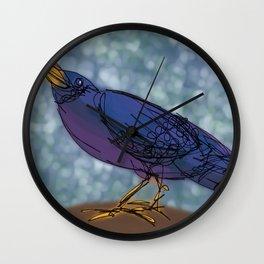 Black Crow Wall Clock