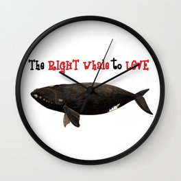 The right whale to love Wall Clock