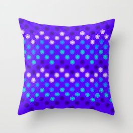 Digital Embroidery in Purple Throw Pillow