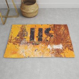 US - Abstract Orange Rusty Metal grunge texture Rug