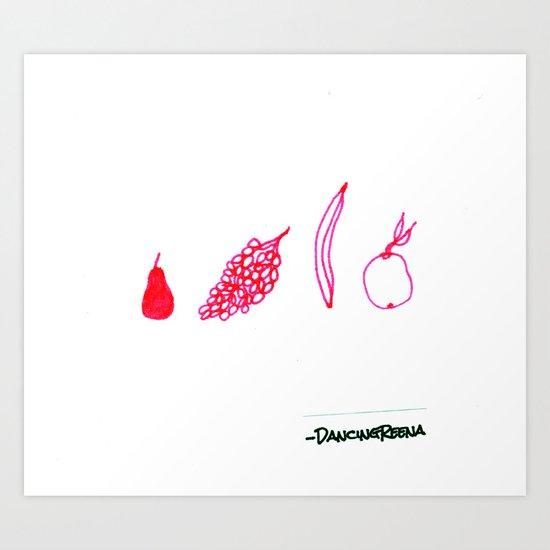 choose your fruit Art Print