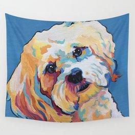 Maltipoo, Cavapoo, Cavachon, Cockerpoo, Mix Breed Custom Pop Art Pet Portrait Wall Tapestry
