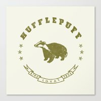 hufflepuff Canvas Prints featuring Hufflepuff House by Shelby Ticsay