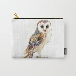 Barn Owl home decor, owl lover gift Carry-All Pouch