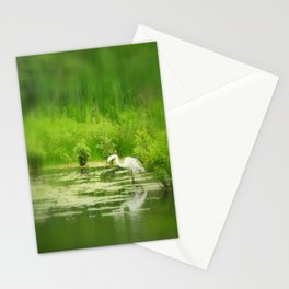 Marsh Egret 2 Stationery Cards