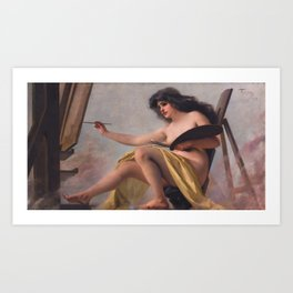 An allegory of Art by Luis Ricardo Falero Art Print