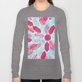Patchwork-Collage Love Long Sleeve T-shirt