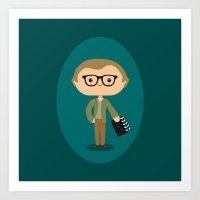 woody allen Art Prints featuring Woody Allen by Sombras Blancas Art & Design