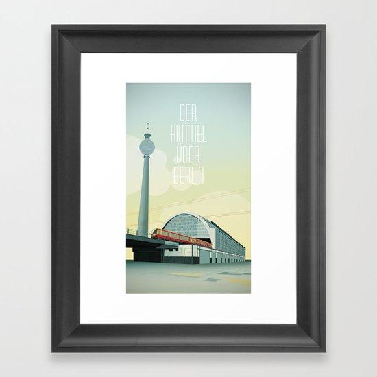 The sky over Berlin Framed Art Print