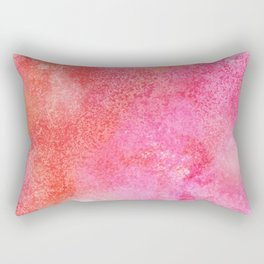 Abstract modern pink orange watercolor pattern Rectangular Pillow