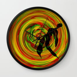 color tunder Wall Clock