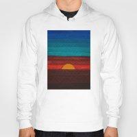 sunset Hoodies featuring Sunset by sinonelineman