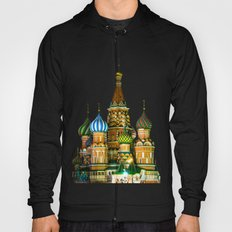 St. Basil's Cathedral on red square in Moscow Hoody