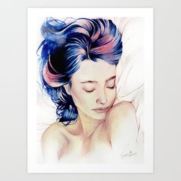 Between the sheets Art Print