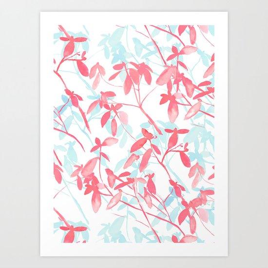 Premonition (Coral Mint) Art Print
