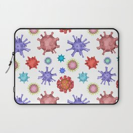 Different kinds of viruses (pattern) Laptop Sleeve