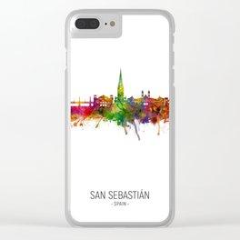 San Sebastian Spain Skyline Clear iPhone Case