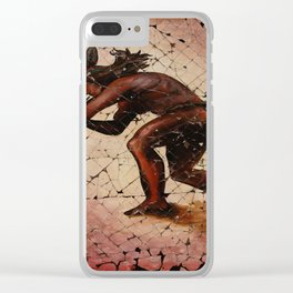Kokopelli, The Flute Player. Clear iPhone Case