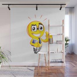 Funny lamp cartoon Wall Mural