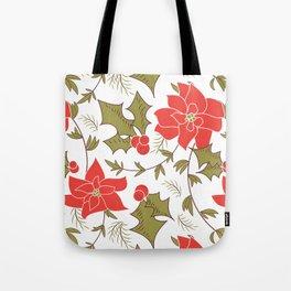 Poinsettia, Christmas Tote Bag