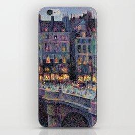 Paris - Le quai Conti along the River Seine by Maximilien Luce iPhone Skin