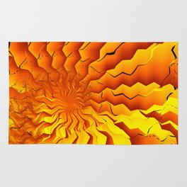 Broken Geometry 3 Abstract Fractal Art Rug