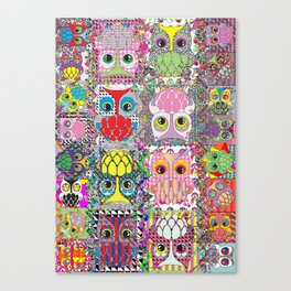 owl party Canvas Print