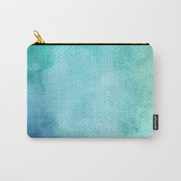 Blue Watercolor Texture Carry-All Pouch