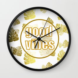 Good Vibrations Wall Clock
